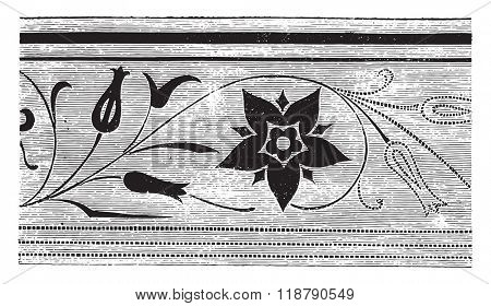 Bottom saw the lacquer, vintage engraved illustration. Magasin Pittoresque 1876.