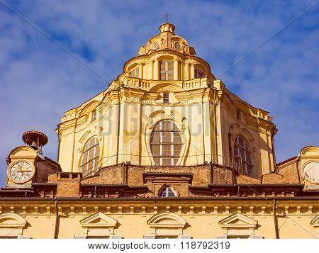 Retro Look San Lorenzo Church Turin