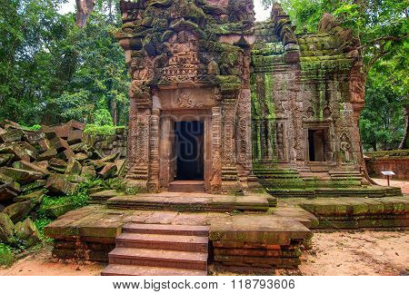Angkor Wat - A Giant Hindu Temple Complex In Cambodia, Dedicated To Lord Vishnu.
