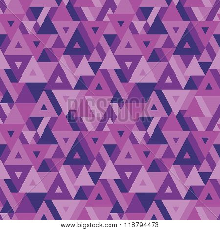 Abstract geometric background - seamless vector pattern in violet color.