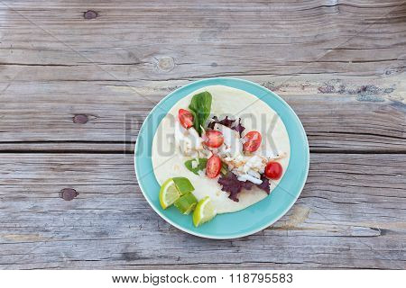 Cod Fish Taco On A Plate
