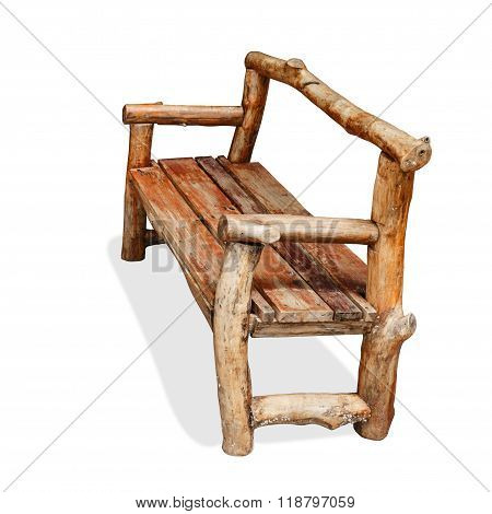 Wood Bench Isolated.