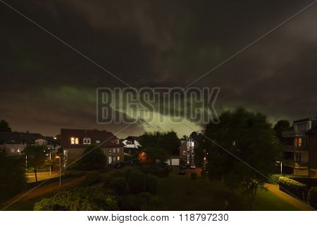 Thunderstorm Over Residential District