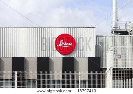 Vila Nova de Famalicao, Portugal. March, 2013: Detail of the new factory of the iconic Leica camera manufacturer in Portugal. Inaugurated in March 2013, after 40 years in the previous facilities.
