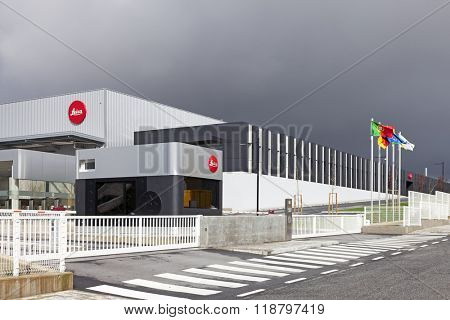 Vila Nova de Famalicao, Portugal. March, 2013: The new factory of the iconic Leica camera manufacturer in Portugal. Inaugurated in March 2013, after 40 years in the previous facilities.