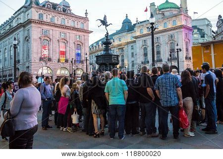 Famous Piccadilly Circus , One Of Major Attraction Of London