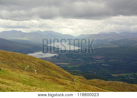 Scotland, West Highlands (ben Nevis, Near Fort William): View From The Mountain