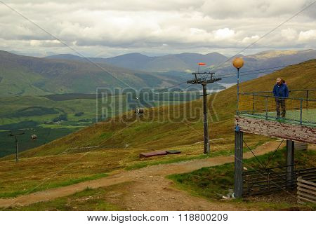 Cable Car On Ben Nevis In Scotland