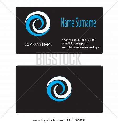 Business Card Logo Whirlpool Branding