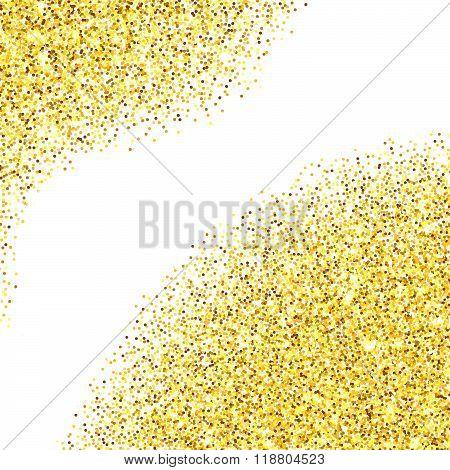 Gold Glitter Textured Corners