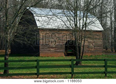 Barnyard In Early Spring