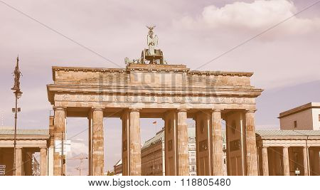Brandenburger Tor In Berlin Vintage