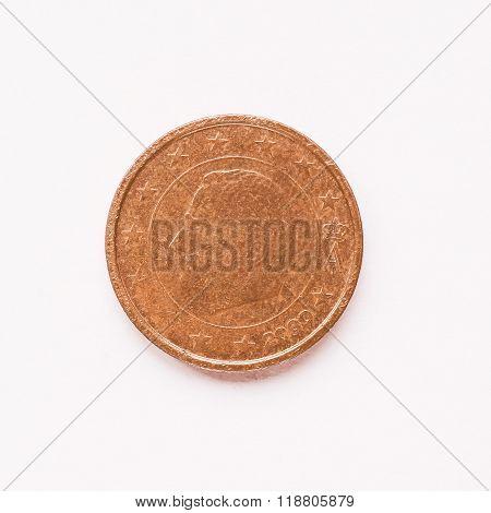 Belgian 2 Cent Coin Vintage