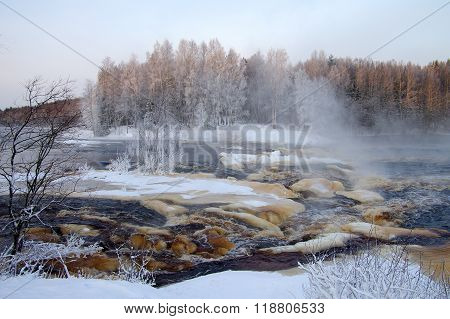Rapids On The Shuya River In Karelia, Russia