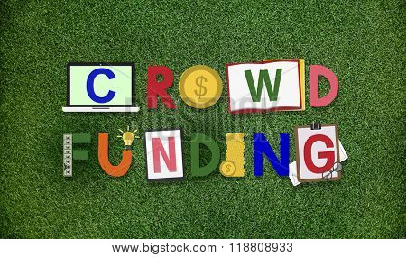 Crowd-funding Fundraising Contribution Investment Concept