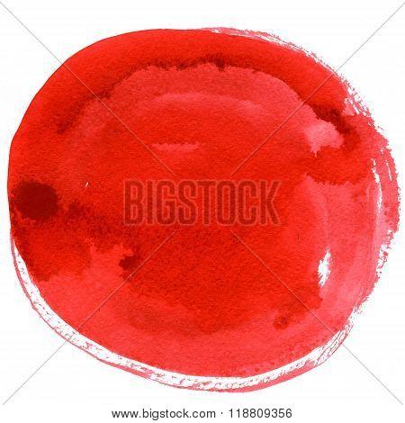Abstract Big Red Circle Spot