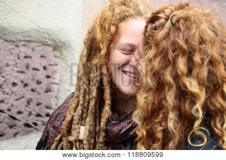 Man Kisses Woman In Colmar