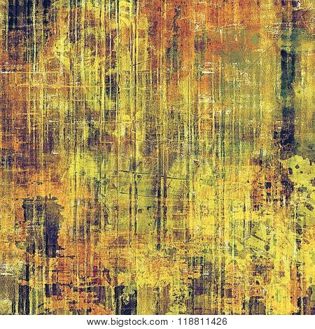 Grunge aging texture, art background. With different color patterns: yellow (beige); brown; green; purple (violet); red (orange)