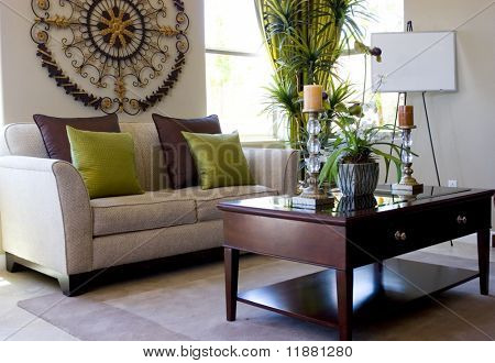 Modern tastefully decorated living room