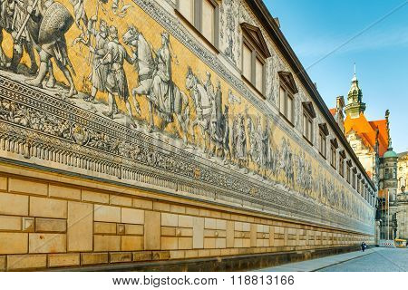 Dresden. Wall Procession Of Kings.