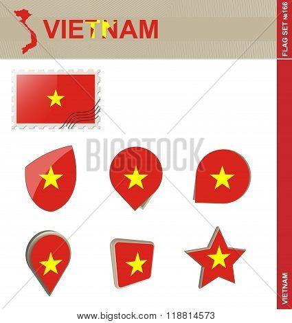 Vietnam Flag Set, Flag Set #166