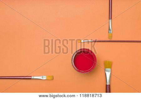 Colorful Paintsin Tin