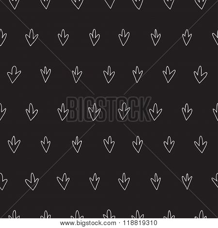 Vector Seamless Pattern Witch Sketch Grass Texture