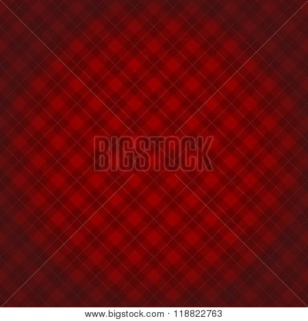 Lumberjack Checkered Diagonal Square Plaid Red Pattern Background With Darkened Corners