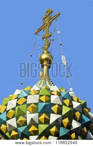 Cross On The Cupola Of The Temple
