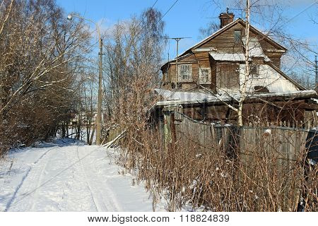 Rural house winter