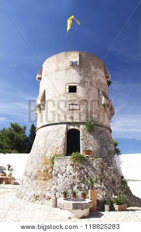 Protective Tower Of The Monastery Of Agios Georgios (1561 G)