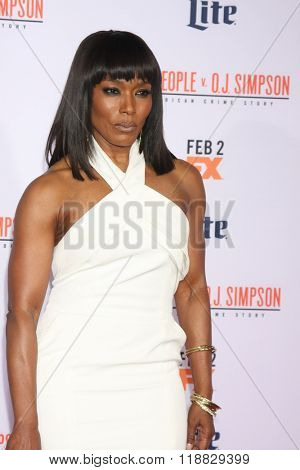 LOS ANGELES - JAN 27:  Angela Bassett at the American Crime Story - The People V. O.J. Simpson Premiere at the Village Theater on January 27, 2016 in Westwood, CA