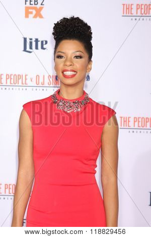 LOS ANGELES - JAN 27:  Angel Parker at the American Crime Story - The People V. O.J. Simpson Premiere at the Village Theater on January 27, 2016 in Westwood, CA