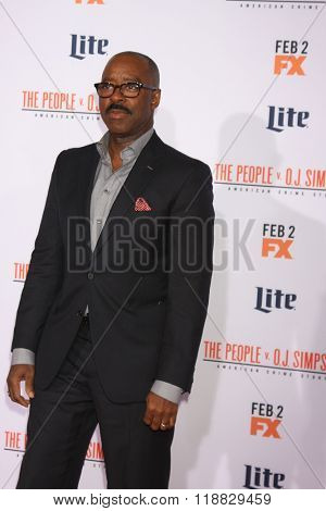 LOS ANGELES - JAN 27:  Courtney B Vance at the American Crime Story - The People V. O.J. Simpson Premiere at the Village Theater on January 27, 2016 in Westwood, CA