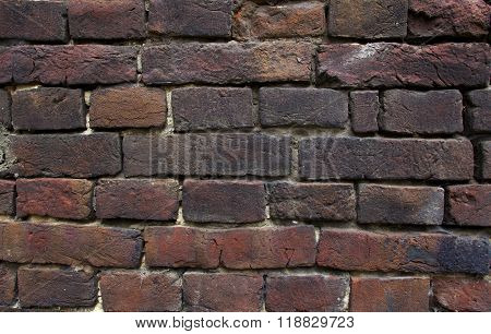 Fragment Of The Old Brickwork Background