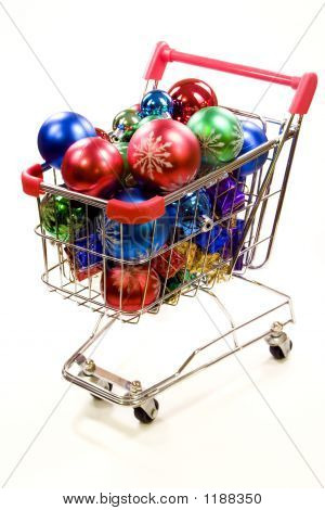 Shopping Trolley Full Of Christmas Decorations 4