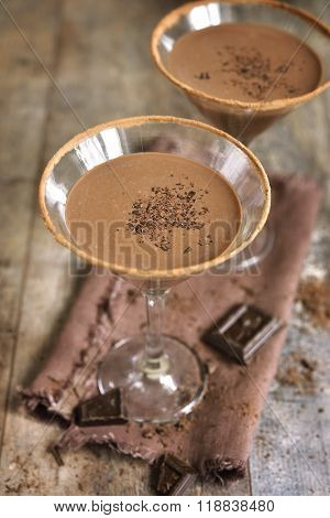 Chocolate Martini.