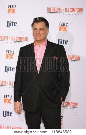 LOS ANGELES - JAN 27:  Joseph Siravo at the American Crime Story - The People V. O.J. Simpson Premiere at the Village Theater on January 27, 2016 in Westwood, CA