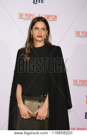 LOS ANGELES - JAN 27:  Amanda Peet at the American Crime Story - The People V. O.J. Simpson Premiere at the Village Theater on January 27, 2016 in Westwood, CA