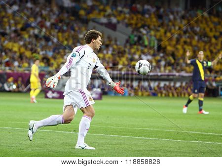 Goalkeeper Andriy Pyatov Of Ukraine