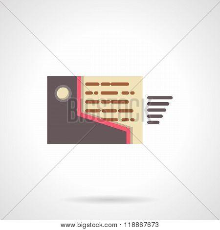 Mailbox flat design vector icon