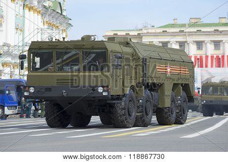 Self-propelled launcher MZKT-7930 missile complex
