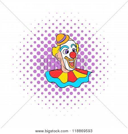 Face clown comics icon