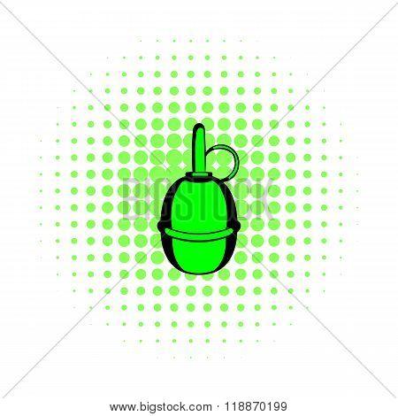 Hand grenade comics icon
