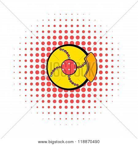 Disc brakes comics icon