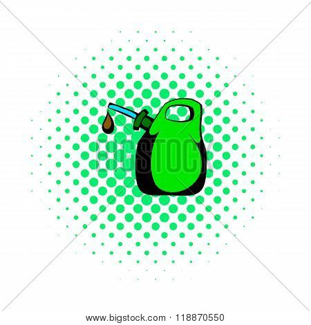 Oil canister comics icon