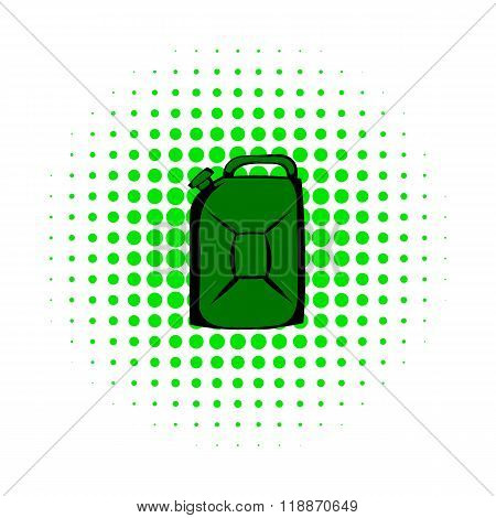 Metal canister comics icon