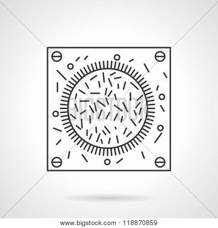 Bacteria icon flat line design vector icon