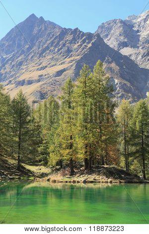 alpine landscape at Lake Blue