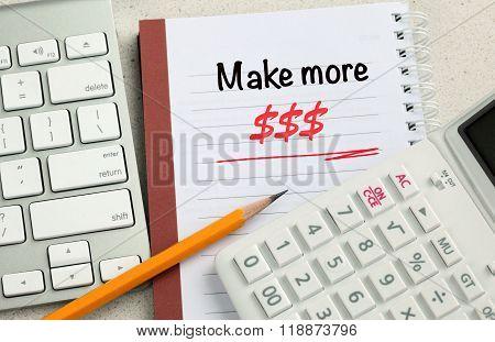 concept of make more money